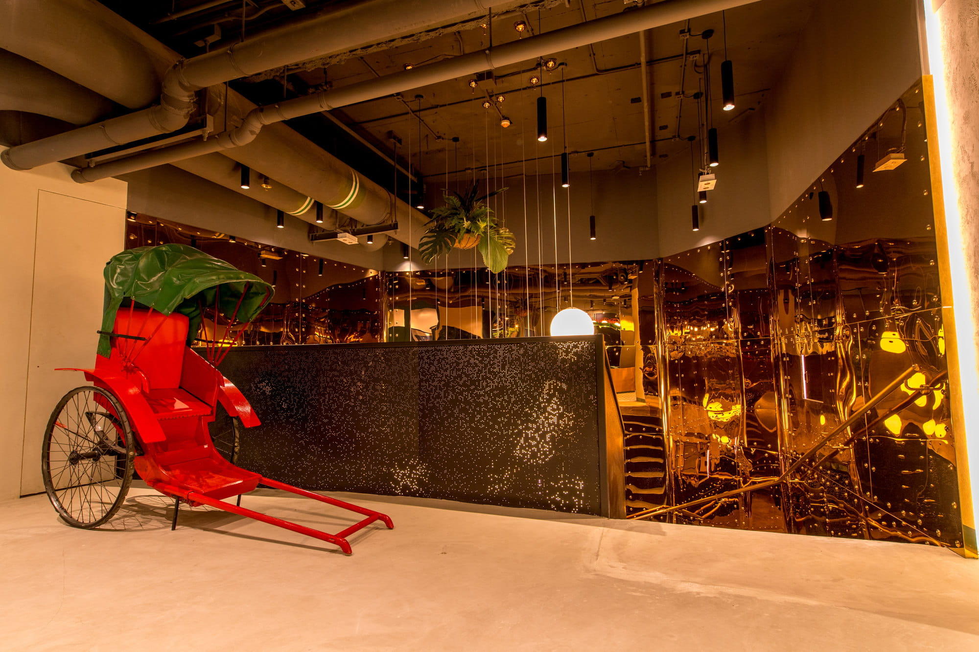 Red Rickshaw Deco in Blueprint HK Coworking Space